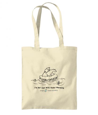 Light Polar Bear Tote Bag