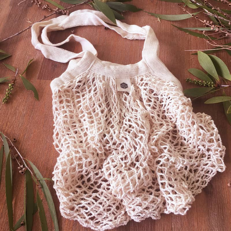 Long Handle – Cotton Net Tote Bag