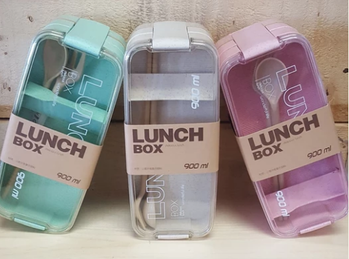 Lunchbox 3-tier wheat fiber lunch box