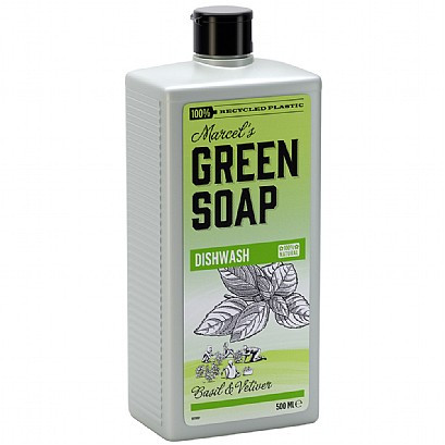 Marcel's Green Soap Washing Up Liquid Basil & Vetiver