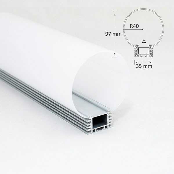Medium Tubular Diffuser Extrusion