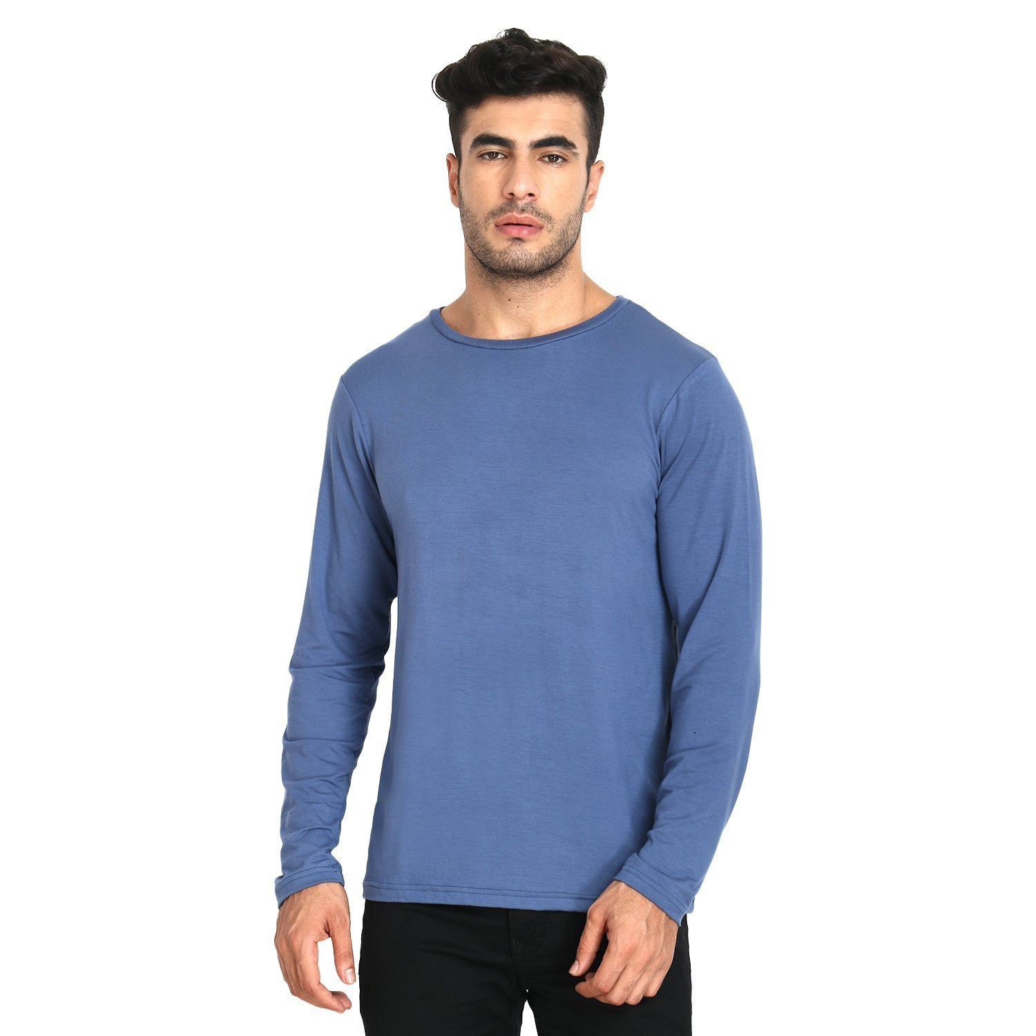 Men's Organic Bamboo Full Sleeve Tee Blue