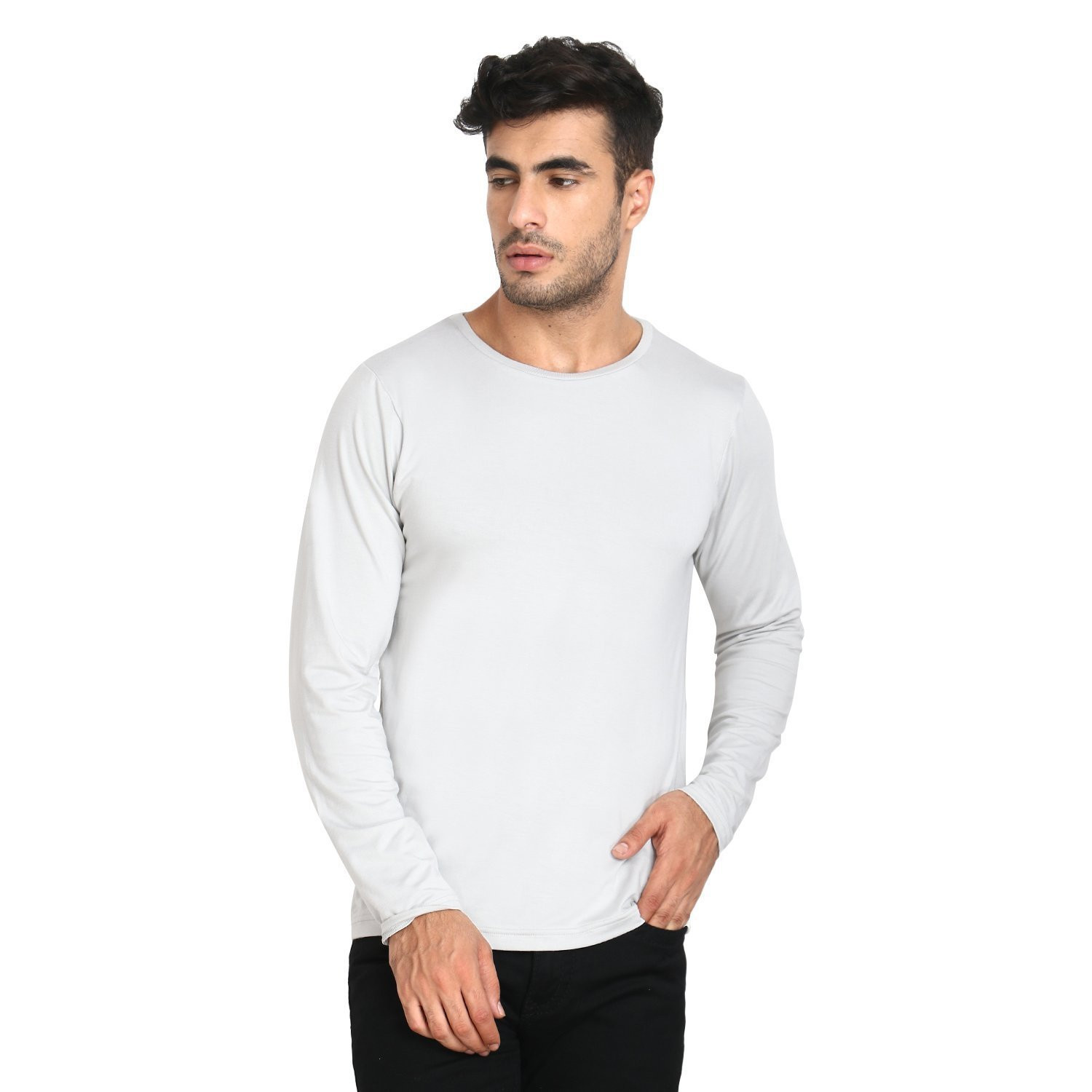 Men's Organic Bamboo Full Sleeve Tee Grey