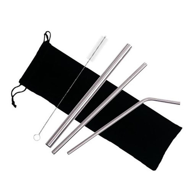 Metal Drinking Straw Set of 4