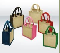 Mini Jute Bags – Short Cotton Web Handle (with Gusset)