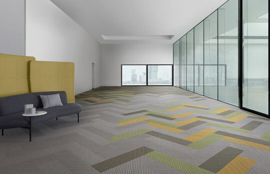 Modular Carpet Tiles with Desso EcoBase® backing