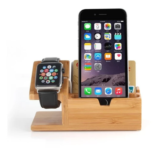 Multi-Function Wooden Charging Dock Station