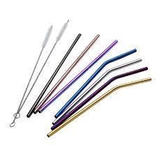 Multicolored Metal Straws