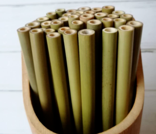 Natural Green Bamboo Straws