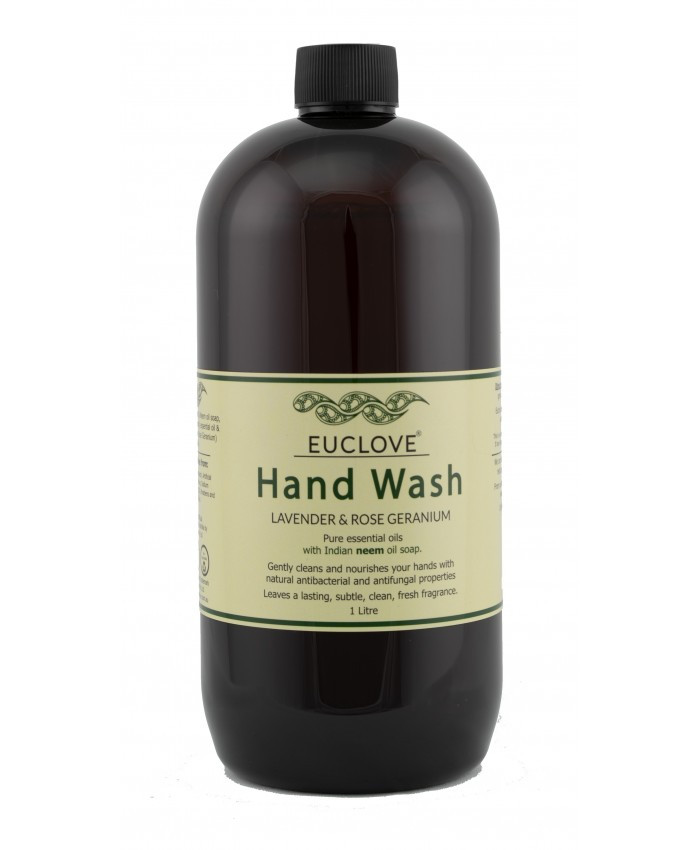 Natural Hand Wash with Lavender and Rose Geranium 1 Litre Refill