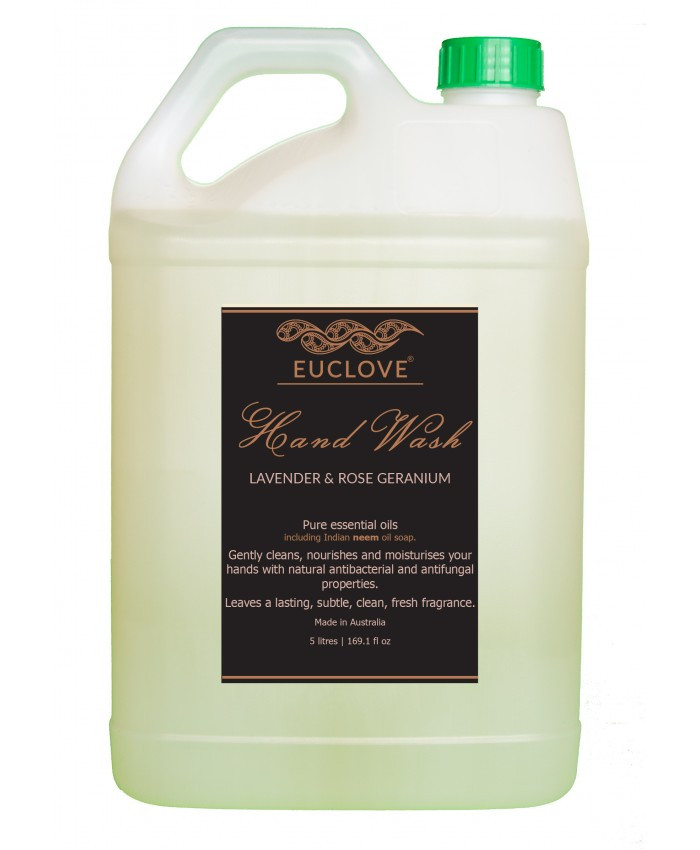 Natural Hand Wash with Lavender and Rose Geranium 5 litre Refill