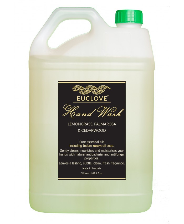Natural Hand Wash with Lemongrass, Palmarosa And Himalayan Cedarwood 5 Litre refill