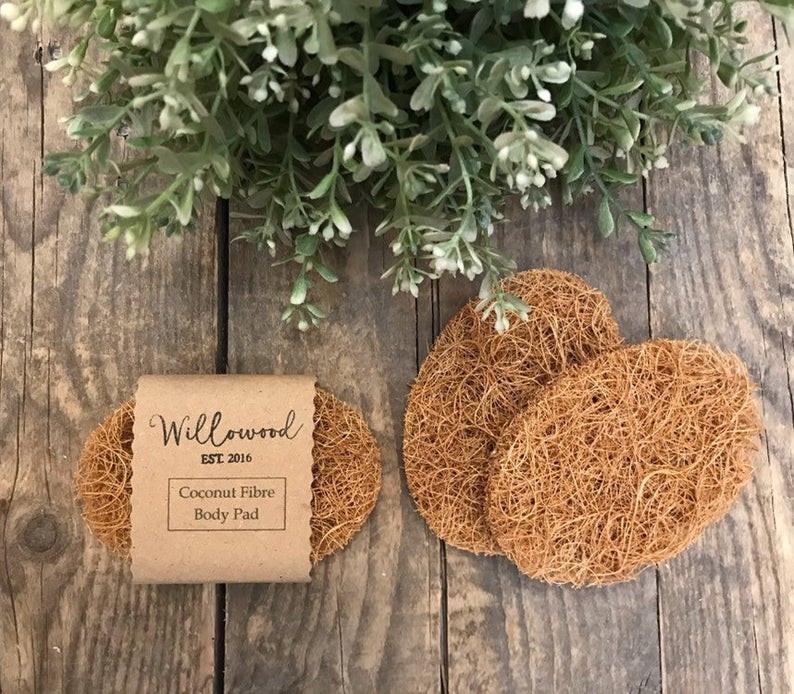 Natural Organic Coconut Fibre Body Skincare Exfoliating Pad Biodegradable