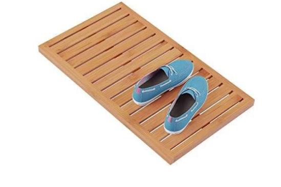 Non-Slip Slatted Bamboo Bath Mat