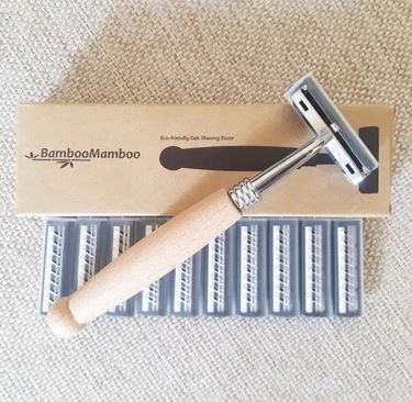 Oak Handled Razor Combo