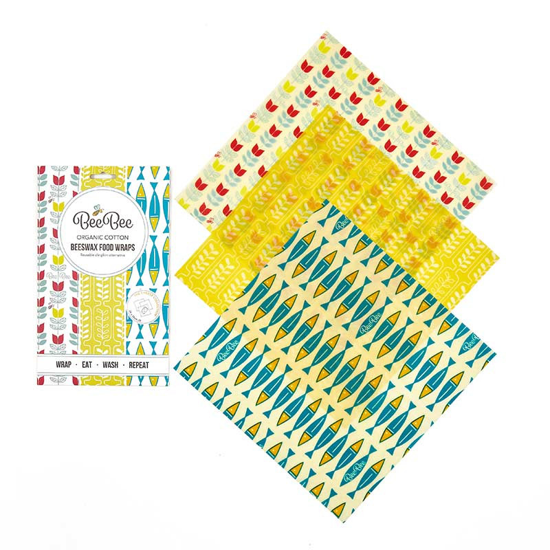 Organic Beeswax Wraps 'Cheese Collection' – 3 Pack