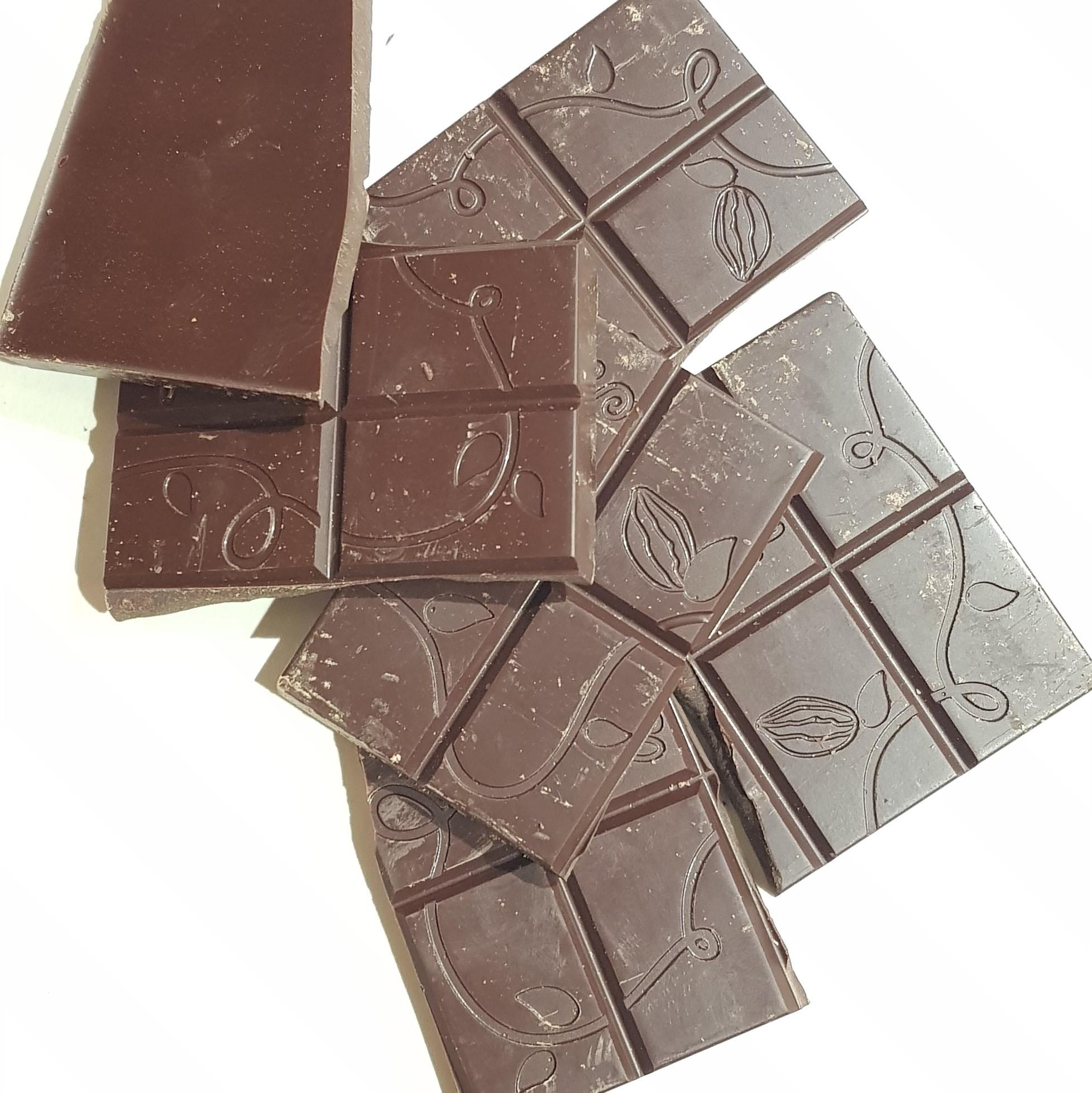 ORGANIC DARK CHOCOLATE WITH HAZELNUT