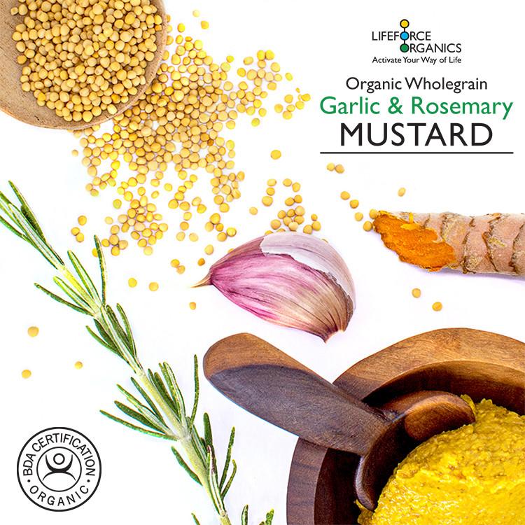 Organic Garlic & Rosemary Mustard