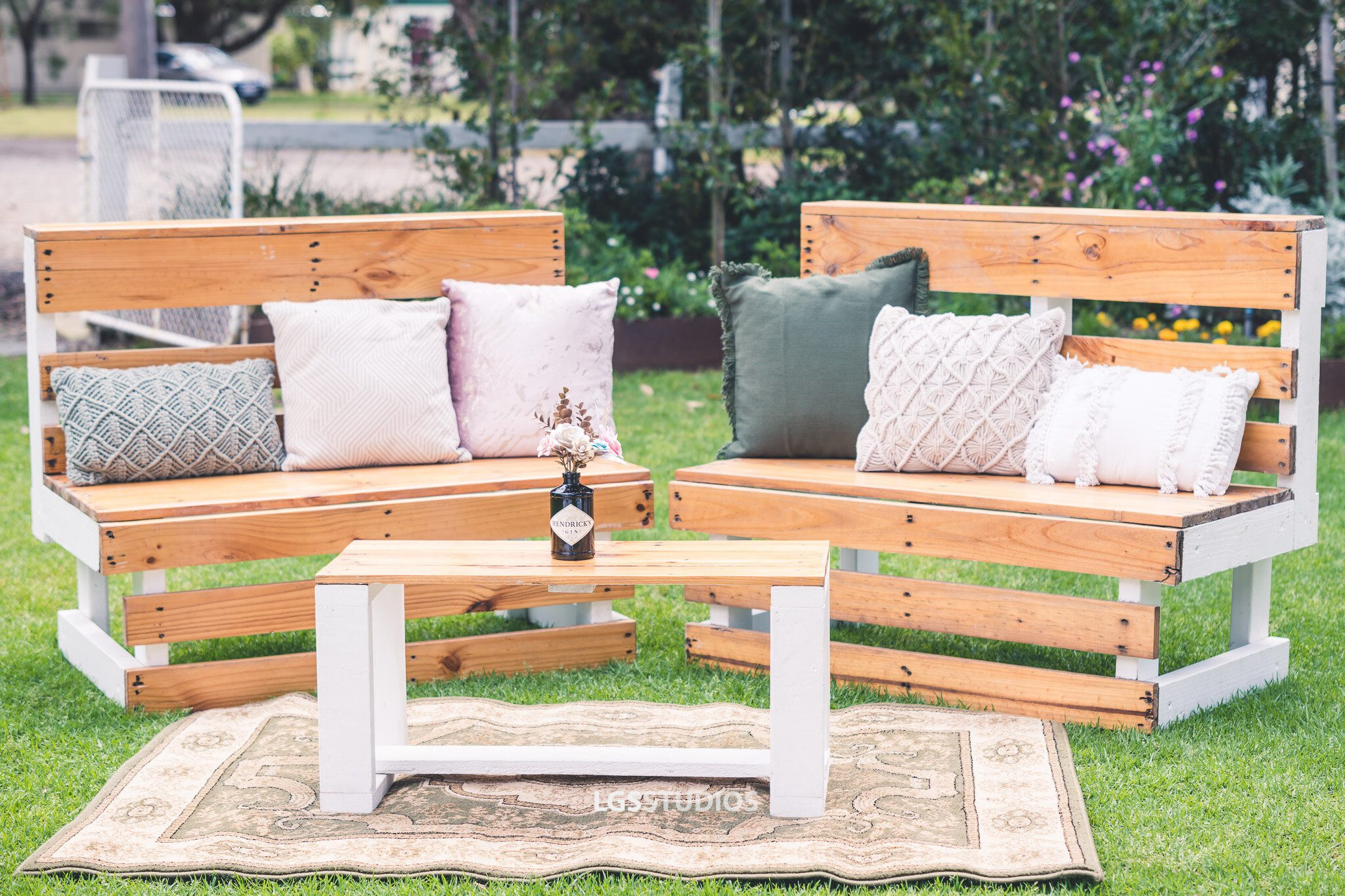 Outdoor Bench & Low Table