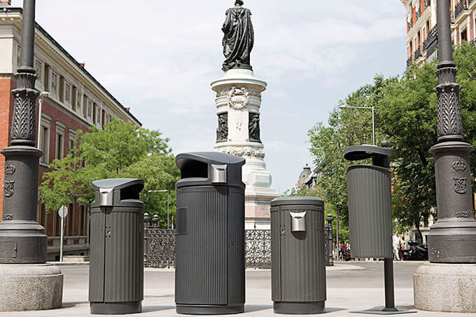 Outdoor litter bin CONTENUR