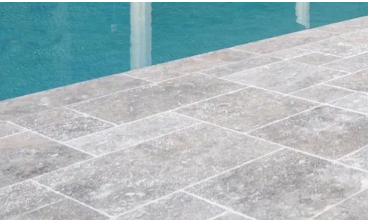 Outdoor Pavers and Tiles - Silver Travertine
