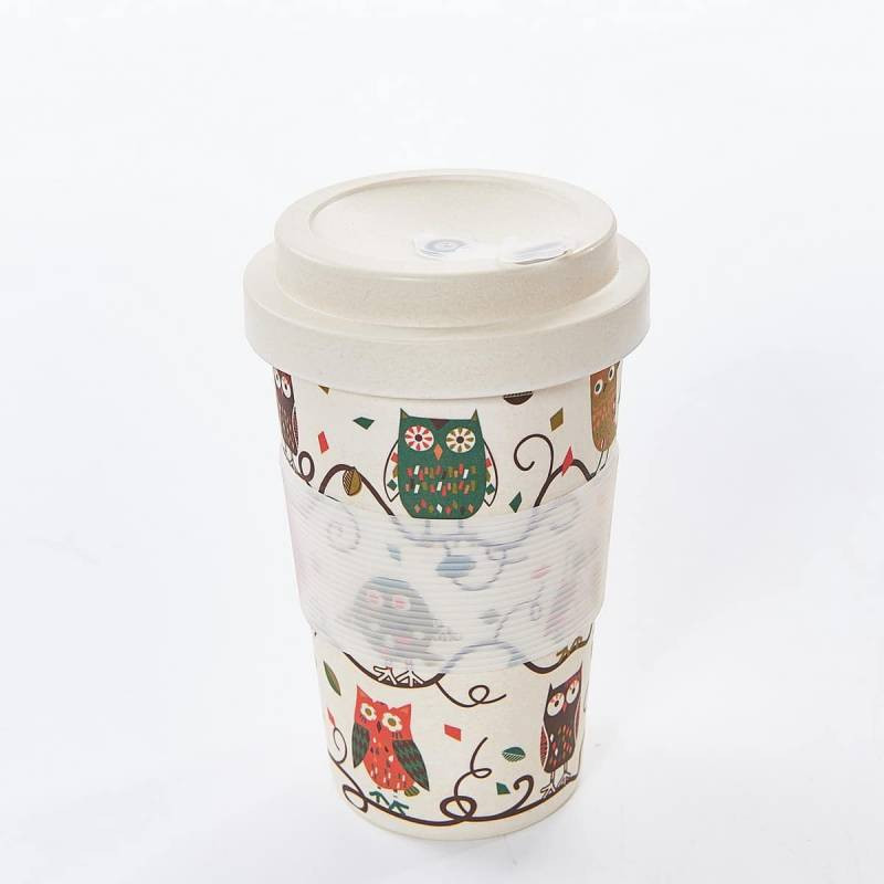 OWL ON THE BRANCH BAMBOO CUP PACK OF 3
