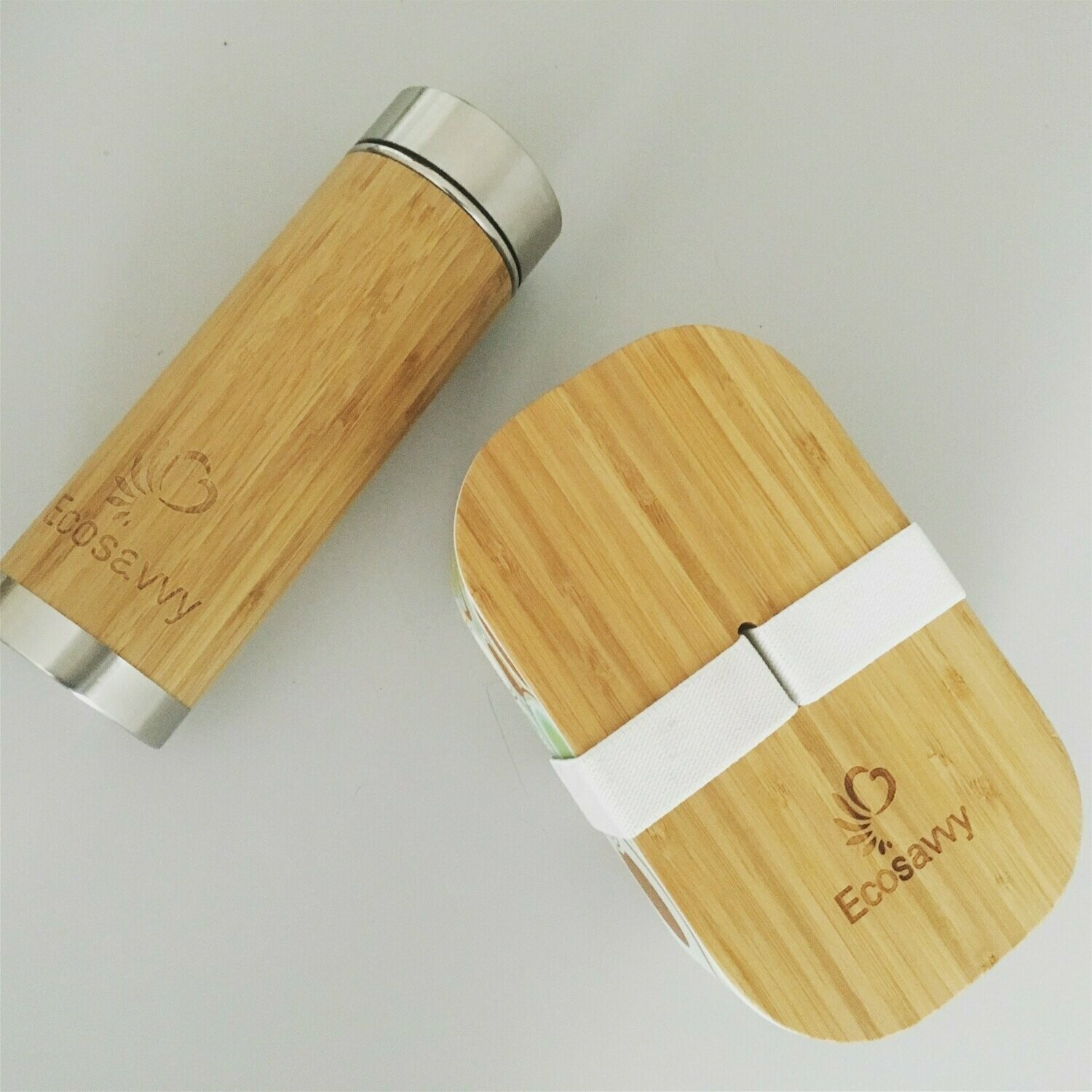 Package of Ecosavvy Flask and Lunchbox