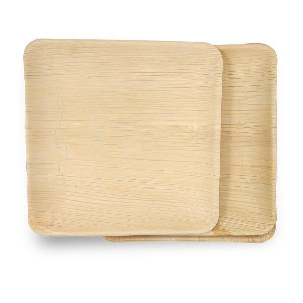 Palm Leaf Dinner Plates - 10 Inch Square (50 Pcs.)