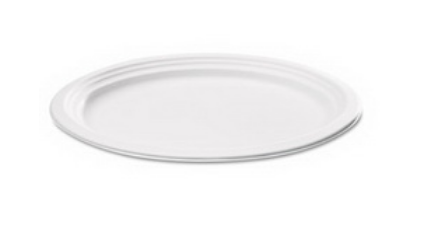 PAP-6.75- ROUND COMPOSTABLE PAPER PLATE 7″ CLASSIC WHITE