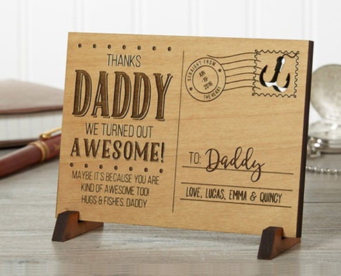 Personalized Wood Postcard