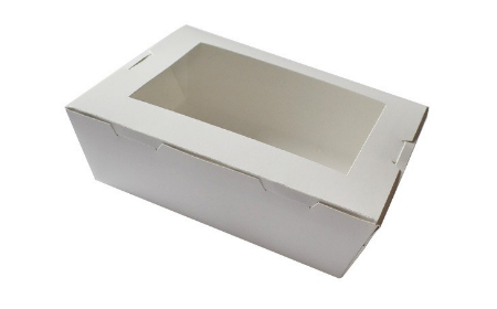 PFB-WIN-HW3- WHITE WINDOWED LARGE LUNCH BOX (200)