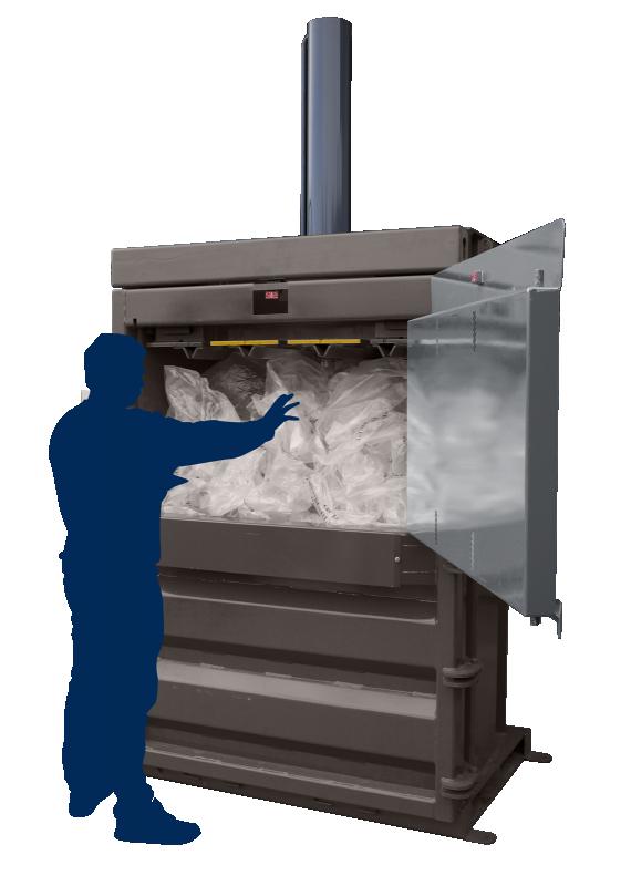 Plastic Waste Balers - QCR V50 Mill Size Waste Baler