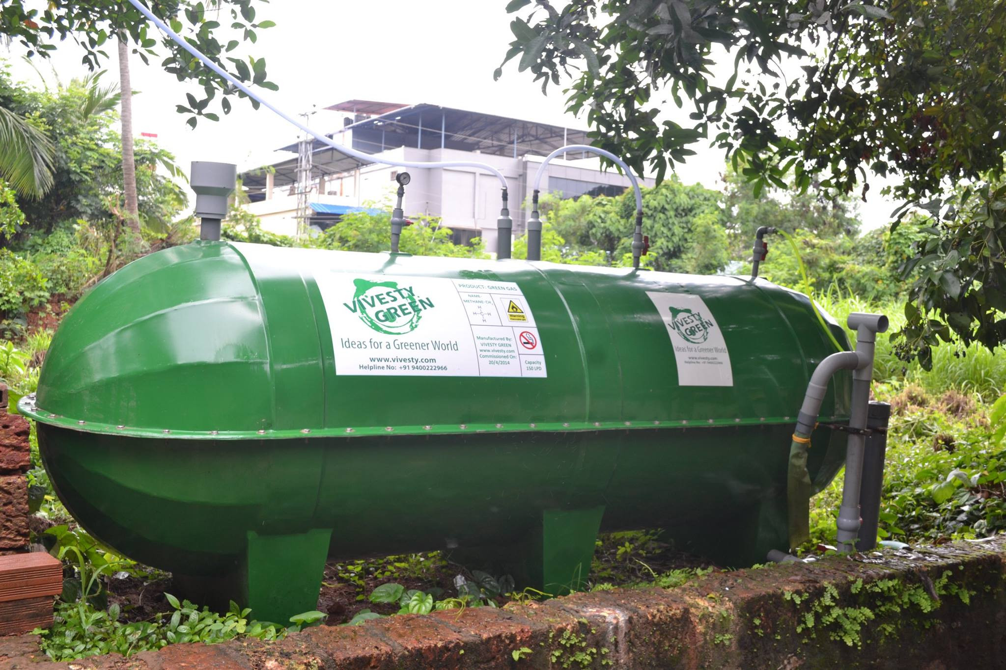 Plug & Play biogas plants for institutions.
