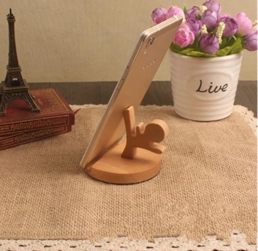 Portable Wooden Cellphone Stand