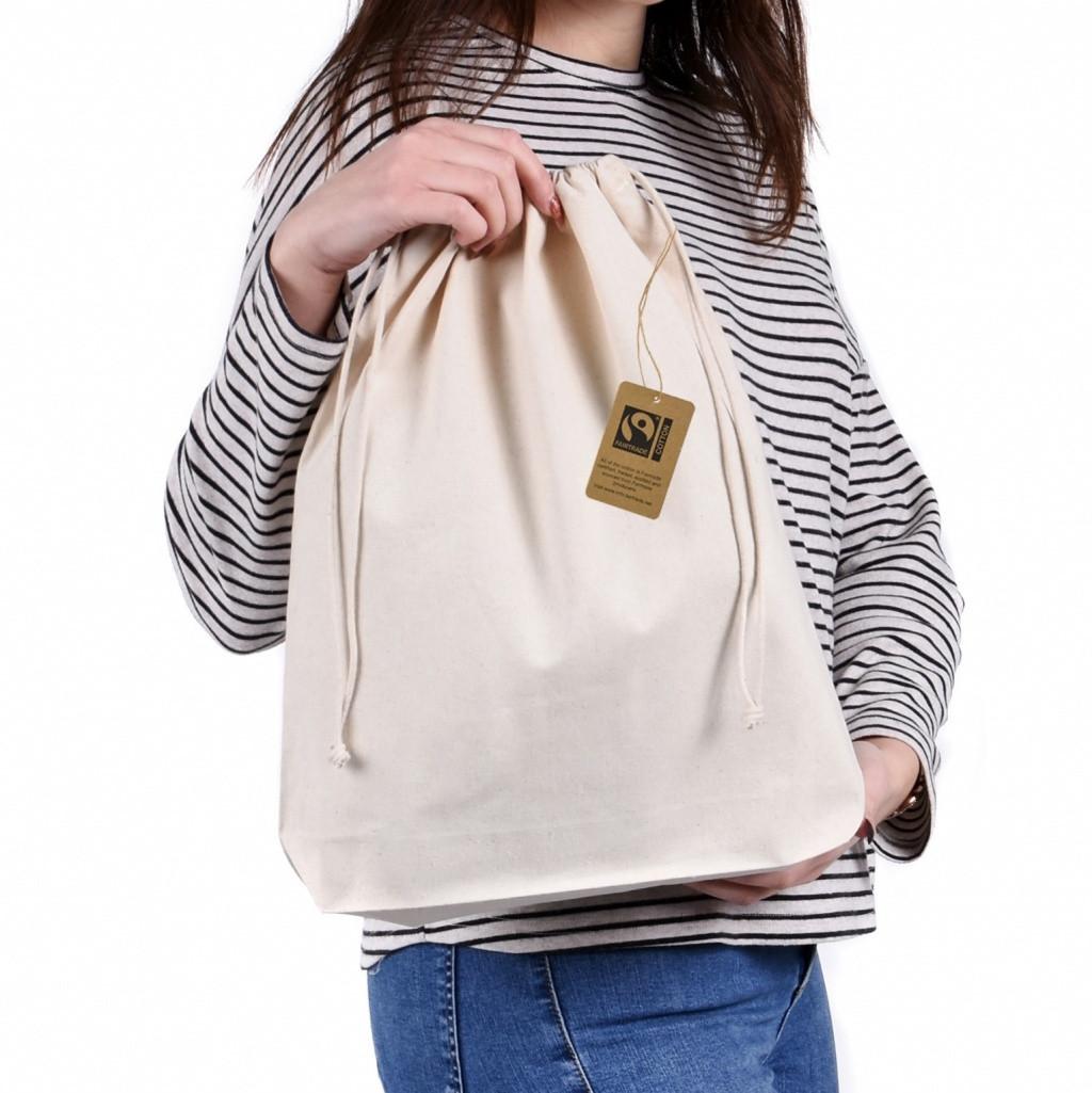 Premium Large Fairtrade & Organic Drawstring Bag