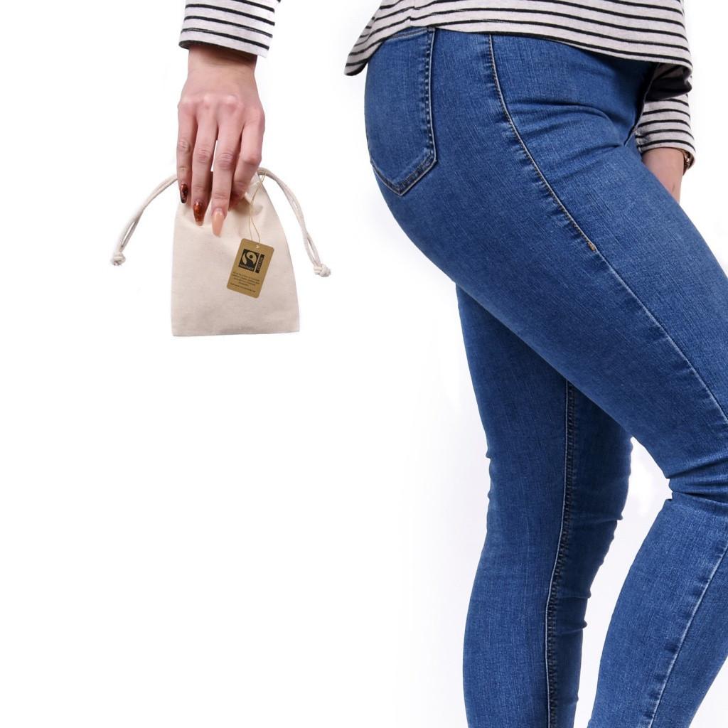 Premium Mini Fairtrade & Organic Drawstring Bag