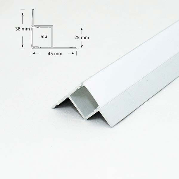 Recessed Extrusion for Ceiling or Wall Edge