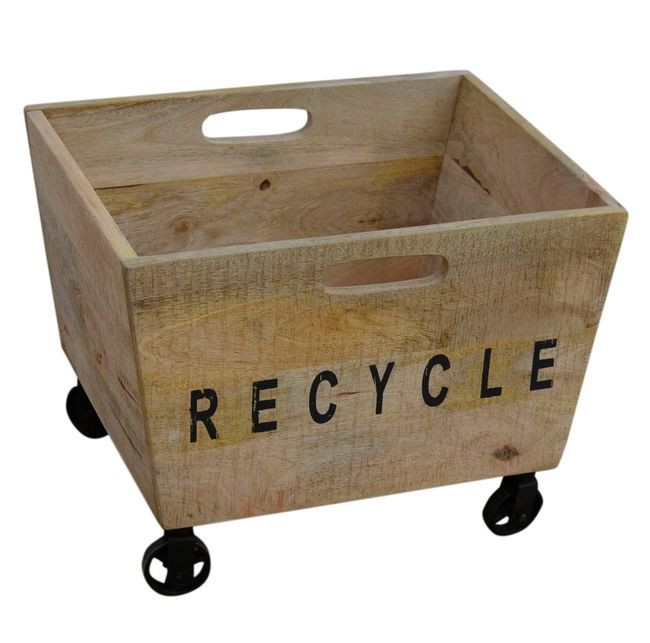 Recycle On Wheels 37x37x49cmh