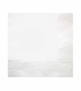 Recycled Napkin 2ply – White – 330 x 330mm