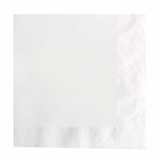 Recycled Napkin 3ply – White – 400 x 395mm