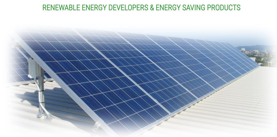 Renewable Energy Developers & Energy Saving Products