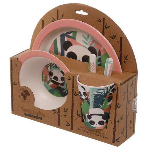 Reusable Bamboo Composite Kids Meal Set - Pandarama