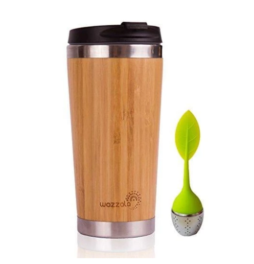 Reusable Bamboo Eco Travel Coffee Mug
