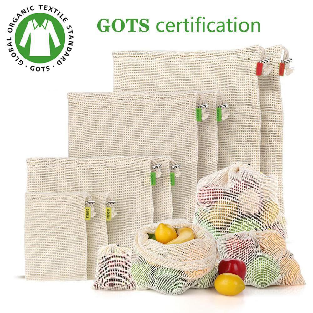 Reusable Cotton Mesh Bags