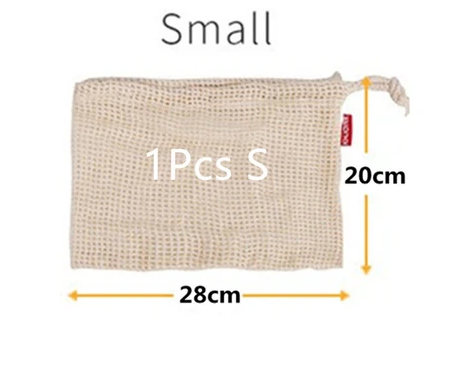 REUSABLE COTTON MESH PRODUCE BAG