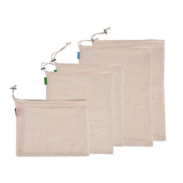 Reusable Cotton Mesh Storage Bag