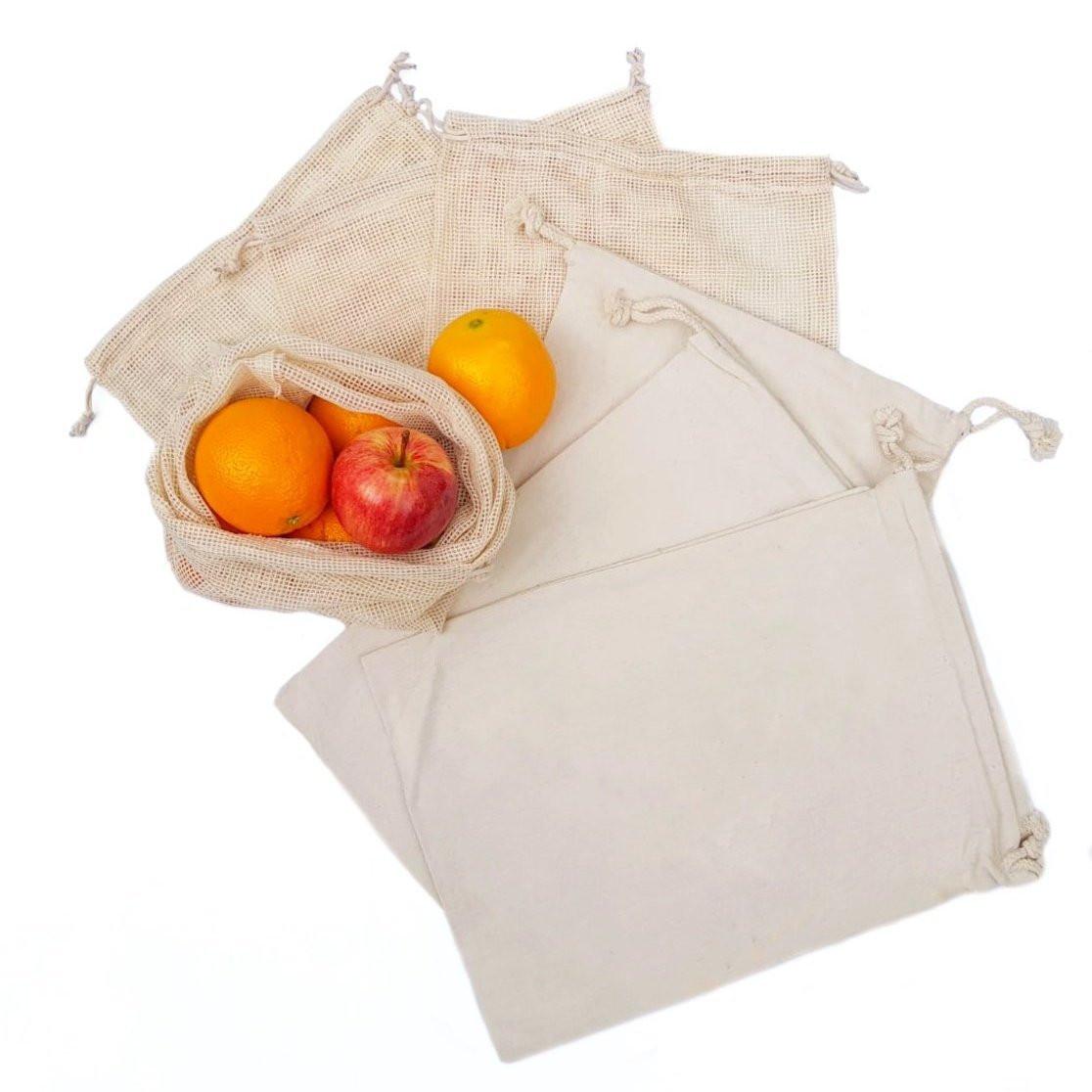Reusable Organic Cotton Produce Bags