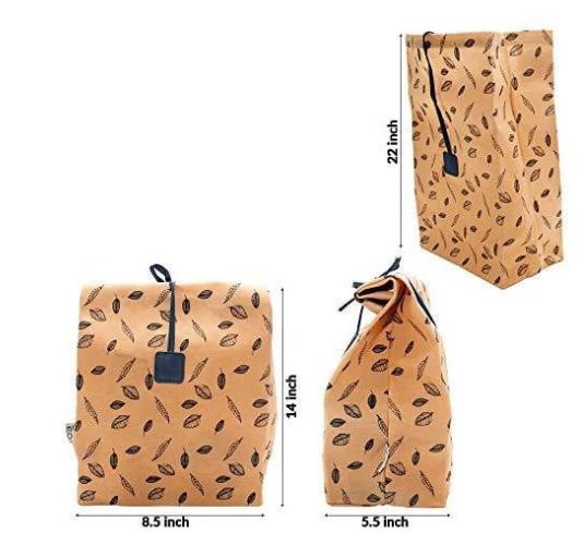 Reusable Waxed Canvas Lunch Bag