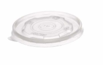 Revive PP Flat Lid for Compostable Food Pot – Translucent – 6oz, 8oz, 10oz