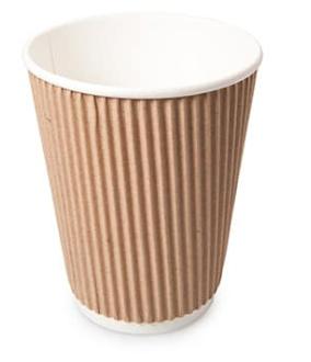 Revive- Ripple Cup – Kraft – 12oz/360ml